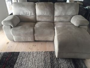 Lounge suite with 3 seater recliner and chaise and 2 seater sofa Hallett Cove Marion Area Preview