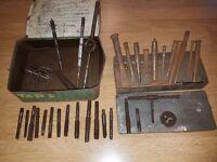 Vintage Tools, Taps & Dies, Punches