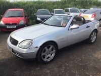 MERCEDES SLK 230 COMPRESSIR AUTOMATIC CONVERTIBLE EKECTRIC ROOF MOT RED LEATHER ALLOYS MOT PX WELCOM