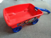 Kids trolley / kart. Blaze and Monster Machines pull cart. Good condition