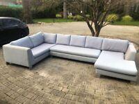 *Urgent Sale* Sofa U-shape Light grey unique interlocking system for sale  Godalming, Surrey