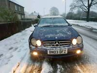 Mercedes CLK 270 dci. On repair