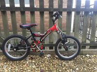 "Boys Red and Black ""Ninja"" Probike in excellent condition"