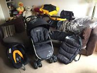 STUNNING DELUXE GRACO PUSHCHAIR UNISEX TRAVEL SYSTEM with LOTS OF EXTRAS CAN POST