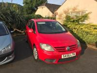 VW Golf Plus 1.9 TDi Red 2006 NEW 12 MONTHS MOT Low Miles HISTORY £1550