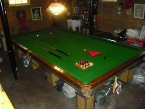 Regulation size Brunswick snooker table