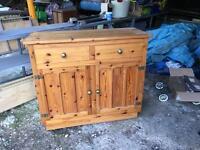 Light pine dresser base