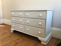 Chest of drawers Solid Wood Pine Painted 6 draw