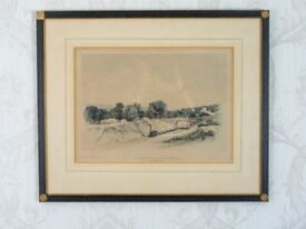 "Blisworth Cutting"" Engraving by John Cooke Bourne"