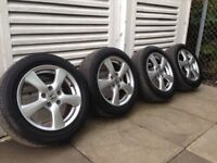Alloys and tyres 205/55/R16 X 4 from Honda Civic