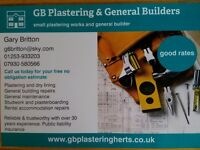 Plastering and general maintenance
