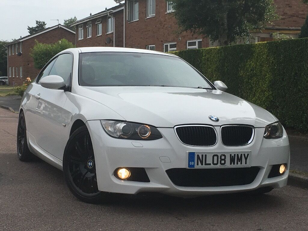 2008 bmw 320i m sport coupe 2 door m3 alloys white 170 bhp in walsall west midlands. Black Bedroom Furniture Sets. Home Design Ideas