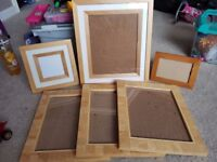 6 Wooden picture frames