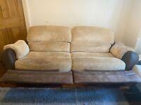 Comfy Recliner Sofas X 2