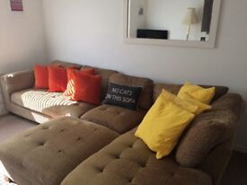 Excellent condition corner sofa. 4 years old. Available beginning October due to house move.
