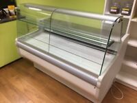 small refrigerated serve over display counter
