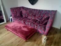 Stunning sofology sofa with footstool