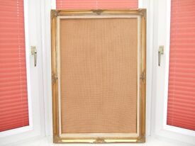 Gold antique style picture frame