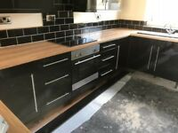 Black Kitchen Cupboard