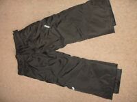 Children's Padded Water proof trousers and water proof gloves.