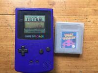 Original Nintendo Gameboy Color in Purple with 2 games