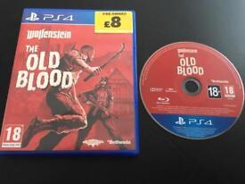 Wolfenstein old blood for PS4