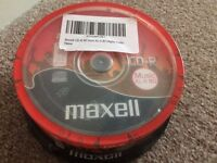 Maxell Cake of 25 Blank CD-R's 80mins Recording Space Per Disc NEW/SEALED