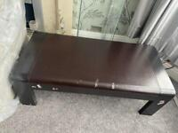 Coffee table and glass cabinet
