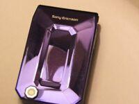 Rarely Available Sony Ericsson F100i JALOU Deep Amethyst Purple in Original Box