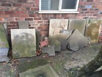 Garage tiles (maybe Yorkshire stone tiles)