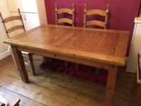 Barker and Stonehouse pine dining table seats 6