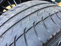 4 x 18inch black BMW alloys with 4 x Goodrich tyres