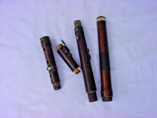 19TH C 1820S BOXWOOD FLUTE ONE KEY MID 19th c FOUR KEYS FOR RESTORATION