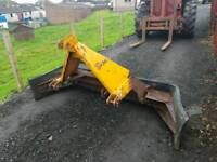 Tractor three point linkage twose yard slurry scraper with very good rubber