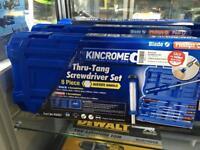 Kincrome Thru-Tang 8 piece Screwdriver Set New