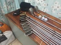 Full set of oversize hulk golf clubs with drivers plus putter .with Extra & free golf bag