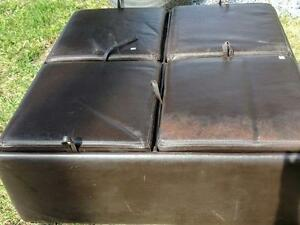 Used leather Ottoman with storage