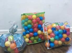 Ball pit balls - used, about 500