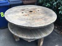 Cable drum garden table