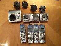 Panasonic Home Phone with 4 handsets and docks. KX-TG7220E - £25 o.n.o
