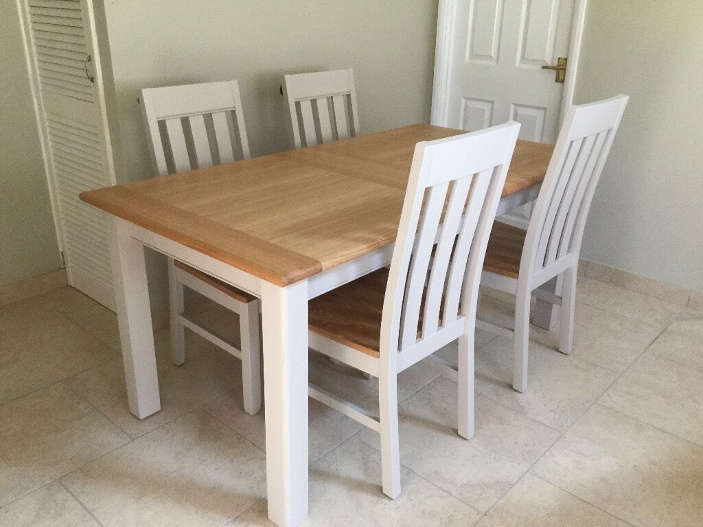 Dining table and 4 chairs marks and spencer padstow in for 4 chair dining table