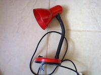 Angle poise desk lamp with bulb