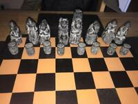 Isle of Lewis chess set. Hand carved. Amazing condition for its age.