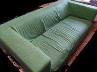 Green 2 seat Klippan sofa