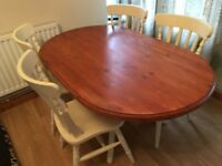 shabby chic country dining table& chairs