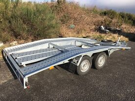 New recovery trailer, car transporter, ramps, straps, spare wheel, wheel chocks, winch.