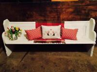 Large Country Farmhouse Pitch Pine Church Pew