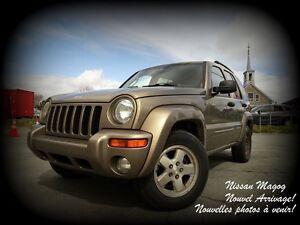 2004 Jeep Liberty LIMITED + 4X4 + AUCUN ACCIDENT + BAS KILO!!!