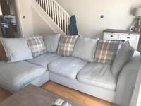 Corner sofa & swivel chair with foot stool (quick sale needed)