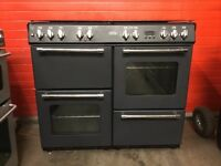 Belling range dual fuel gas cooker 100DFT 100cm black FSD 3 months warranty free local delivery